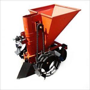 Картофелесажалка для мотоблока однорядная транспортерная КС-3