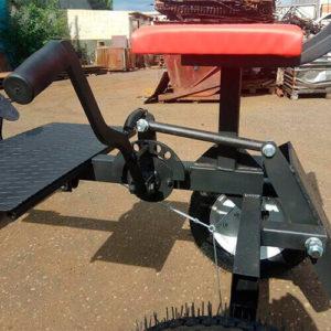Механизм блокировки рабочего и транспортировочного положения навесного оборудования с рычагом оператора