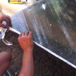 Перфорированная лента для сотового поликарбоната
