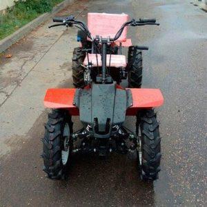 Мини-трактор Стенли на базе мотоблока 1900 16P с переденим адаптером