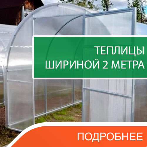 Теплицы из поликарбоната шириной 2 метра