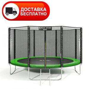 Батут Atlas Sport 435 см (14 ft) с внешней сеткой и лестницей