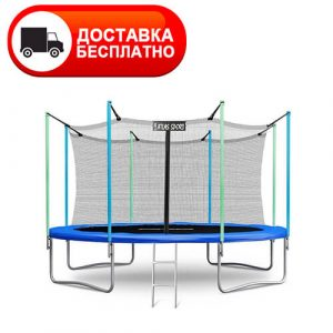 Батут Atlas Sport 435 см (14ft) с внутренней сеткой и лестницей