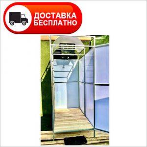Дачный душ Л1Т с подогревом и раздевалкой (тамбуром)