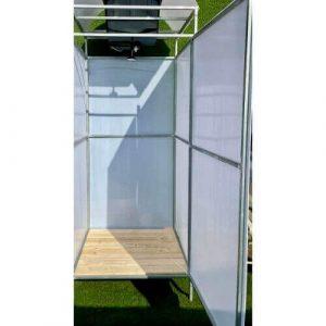 Летний душ Л1 для дачи с полом, баком на 55 литров и дверью