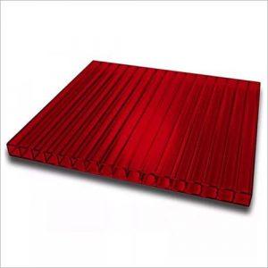 Лист сотового поликарбоната бордового цвета