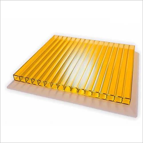 Лист сотового поликарбоната желтого цвета