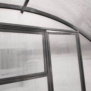 Металлический оцинкованный каркас теплицы с поликарбонатным покрытием