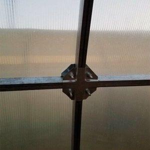 Система крепления краб для теплицы из поликарбоната