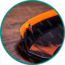 Усиленный защитный кожух с ножом для обрезания лишней лески